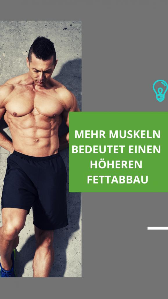 Mehr Muskeln bedeutet eine erhöhte Fettverbrennung